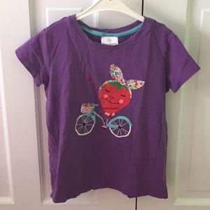 Purple Summer Shirt w/ A Strawberry Riding A Bike